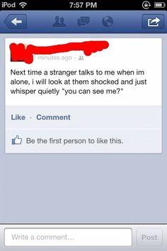 The Greatest Facebook Status Ever