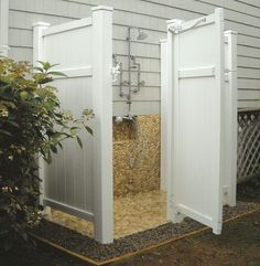 PVC Outdoor shower enclosure