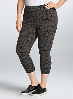 990a7543f68 These skull print leggings are ready for a workout. The grey 4-way stretch
