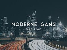 Moderne Sans Free Font sans serif