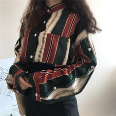 The Retro Style Painter's Blouse – Clothing Online . Retro Outfits, Cool Outfits, Vintage Outfits, Casual Outfits, Fashion Outfits, Retro Fashion, Korean Fashion, Vintage Fashion, Womens Fashion