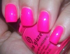 China Glaze- Pink Voltage (Neon). Love this color I have it on my nails and toes right now...looks esp. good when you're tan