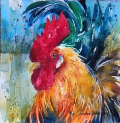 paintings of roosters and chickens   Fancy Bird