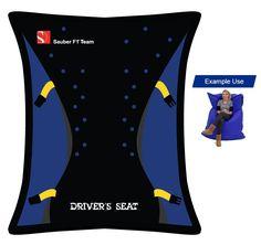 "Sauber Team - Sauber Team Junior Beanbag ""Driver's Seat"" - Must-Haves - Webshop Bean Bag, F1, Must Haves, Bean Bags, Bean Bag Chair"