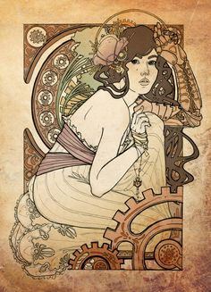 Art Nouveau + Steampunk by the wonderful Helen Mask at SCAD.