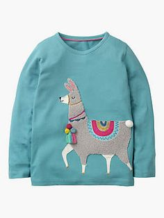 92d6327923 Buy Mini Boden Girls  Party Animals Llama T-Shirt