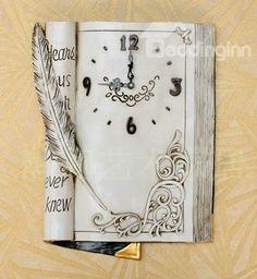 Love reading? New Arrival American Style Creative Antique Book Design #Decorative #Wall #Clock
