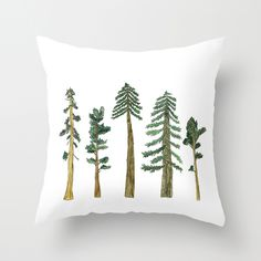 "Erin Vaughan ""Be Beneath the Trees"" throw pillow."