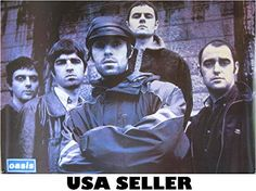 Oasis Noel Gallager, Liam And Noel, Blue Poster, Liam Gallagher, Pop Rocks, Cool Bands, My Images, Oasis, Alternative