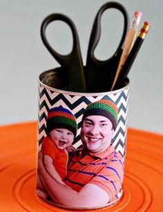 Porta-lápis para presente de Dia dos Pais
