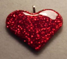 Happybird's Crafting Haven: How To Make A Gorgeous Ruby Heart Necklace Pendant