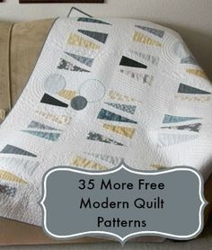Modern Quilt (Janome quilt project: Intermediate skills required) Love It! Modern Quilt Blocks, Modern Quilt Patterns, Quilt Patterns Free, Modern Quilting, Quilting Projects, Quilting Designs, Quilting Ideas, Diy Projects, Quilt Modernen