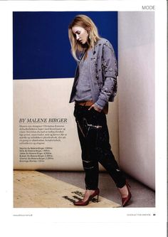 By Malene Birger in Danish Alt For Damerne. Malene Birger, White Tees, Danish, How To Look Better, Jacket, My Style, Skirts, Outfits, Shoes