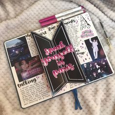 Most current Totally Free bts Scrapbooking Ideas Style When you start scrapbook, anyone provides you with plenty of tips. The key is to learn the own scrapbooking d Bullet Journal Aesthetic, Bullet Journal Notebook, Bullet Journal 2019, Bullet Journal Spread, Bullet Journal Inspo, Bullet Journal Layout, My Journal, Journal Pages, Journals