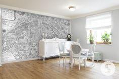 Paris map--removable wallpaper swagpaper.com