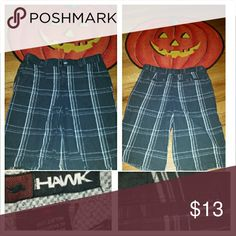 TONY HAWK Boys Plaid Shorts Button/zip fly closure, 3 pockets, Excellent condition, smoke-free home Tony Hawk Bottoms Shorts