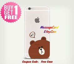 Cute Bear Clear Phone Case Cover for iPhone 6 6s by MessageCard