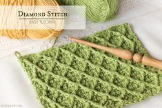 How To: Crochet The Diamond Stitch - Easy Tutorial