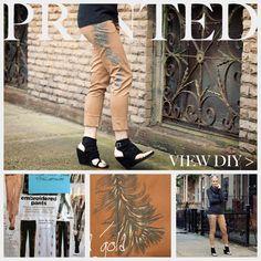 DIY Printed Pants DIY Clothes DIY Refashion