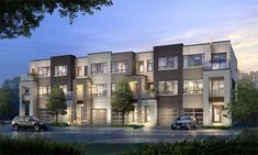 Stationwest to introduce modern and sophisticated urban towns to Aldershot in Burlington Walk Up Apartment, Row House Design, Townhouse Exterior, Home Design Plans, House Goals, Modern Architecture, New Homes, House Styles, Apartments