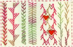 TAST Feather Stitch - Hearts | Flickr - Photo Sharing!