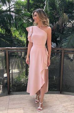 Charming One Shoulder Long Prom Dress 1685 vestidos! Evening Dresses, Prom Dresses, Formal Dresses, Wedding Dresses, Dress Prom, Cute Party Dresses, Dress For Party, Elegant Dresses For Women, Beautiful Dresses