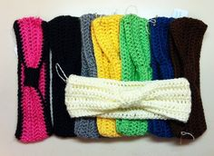 DIY Crochet Ear warmer tried it and came out cute but need to use a smaller needle next time...