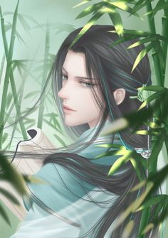 This is Wang Kuo, Wang Zhen's younger brother. He is a nerd in every aspect. He is very quiet, and hates woman who throws themselves onto men. He is a very talented man, and he is capable in martial arts too. Anime Kunst, Anime Art, Chinese Picture, Chinese Drawings, Fantasy Art Men, Handsome Anime, Shall We Date, China Art, Boy Art