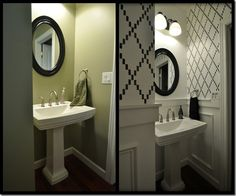 Before + After powder room reveal!