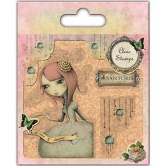 Santoro Mirabelle 2 Acrylic Clear Stamp Set Ask Me To Dance - New!