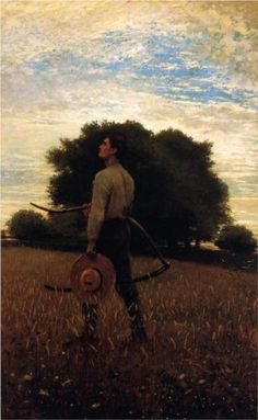"""""""Song of the Lark"""" by Winslow Homer American Painter. Chrysler Museum of Art. American Realism, American Artists, Winslow Homer Paintings, Chrysler Museum, Tatoo Art, Oil Painting Reproductions, Realism Art, Vincent Van Gogh, Ancient Art"""