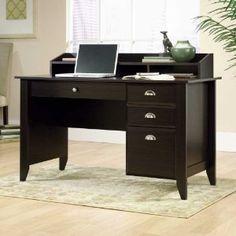 #9: Sauder Shoal Creek Desk in Jamocha Wood