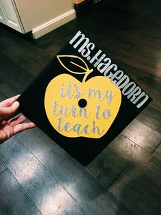 college of education graduation cap! teacher grad cap!
