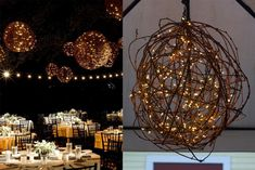 DIY: Branch Orb Chandelier. Check out the blog for how you can make your own!
