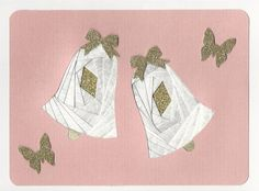 Iris Folding Wedding Bells  Done in white by DeesGreetingCards, $3.50