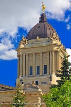 The Golden Boy statue atop the Manitoba Legislative Building, Winnipeg Manitoba, Canada. Barbados, Jamaica, Canada Eh, Canada Summer, Visit Canada, Honduras, Bolivia, Puerto Rico, Cuba