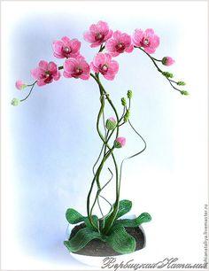 Мобильный LiveInternet Орхидея из бисера. Работы мастера и МК | Jaluchik - Дневник Jaluchik |