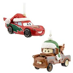 Disney Cars Lightning McQueen and Tow Mater Hallmark Ornament ...