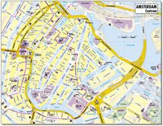 City Map Of Amsterdam Netherlands | Map of the city centre of Amsterdam.Tourist information Amsterdam