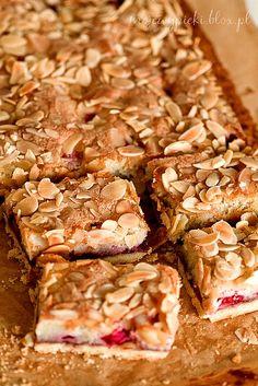 Tarta Bakewell z malinami | Moje Wypieki