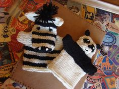Ravelry: Panda and Zebra Hand Puppets pattern by Susan B. Anderson
