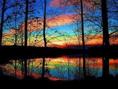 Spectacular Colors of a Sunset