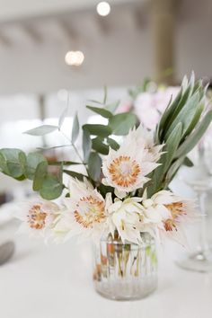 Blushing Bride Protea Wedding by As Sweet As Images Blushing Bride Protea Wedding Bouquet De Protea, Protea Wedding, Floral Wedding, Wedding Bouquets, Wedding Dresses, Reception Decorations, Wedding Centerpieces, Mariage, Bridal Bouquets