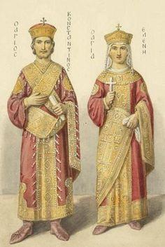Emperor Constantine and his mother Empress Helena (finder of the True Cross).