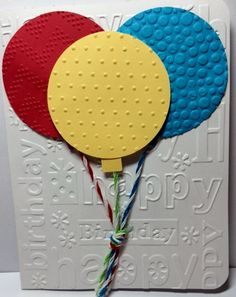 Hand Made Birthday Card with Balloons by SherrysCraftPatch on Etsy