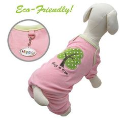 Soy Fiber and Cotton Hug A Tree Dog Pajamas Size: X-Lage, Color: Pink by Klippo Pet   $26.49   Available at BuyDogSweaters.com