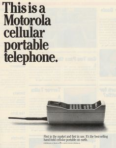weirdvintage:    Motorola Portable Cellular Telephone, 1985  Had one similar. Would barely fit under my carseat!!
