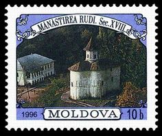 Stamp: Monasteries (Moldova) (Buildings) Mi:MD 200