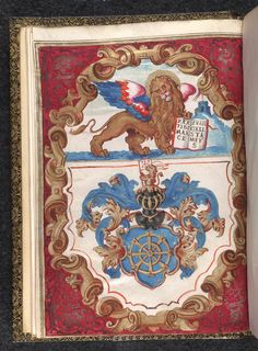 Lion of Venice from BL Eg 759, f. 1v | 1635 | The British Library | Public Domain Marked