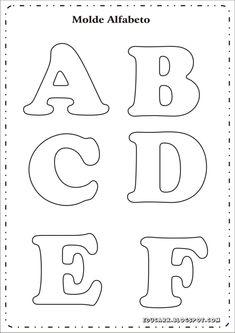 Risultati immagini per as letras do alfabeto para imprimir Alphabet Letter Templates, Printable Letters, Felt Patterns, Applique Patterns, Felt Crafts, Diy And Crafts, Bubble Drawing, Bubble Letters, Lettering